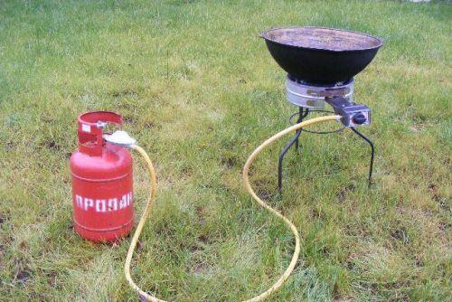 Газовая горелка для казана