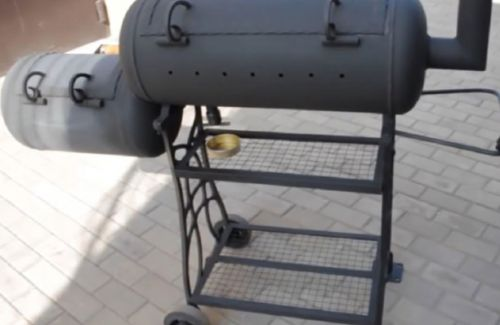 ГРиль барбекю из газовых баллонов
