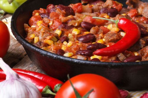 Говядина с перцем чили