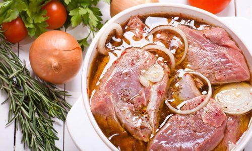 Маринование мяса для шашлыка