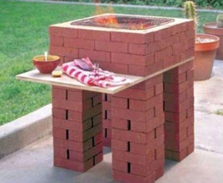 Простейшая конструкция барбекю