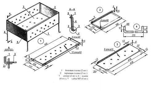 Схема изготовления жаровни