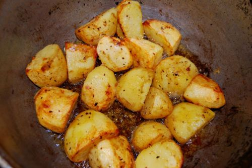 Картошка, приготовленная в казане