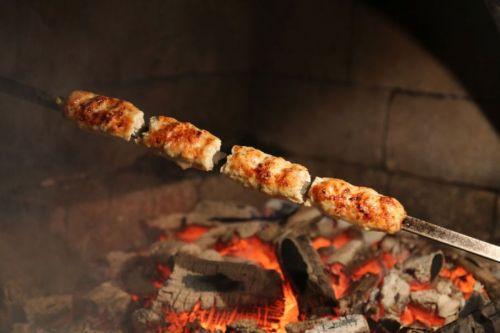 Люля-кебаб на шампуре