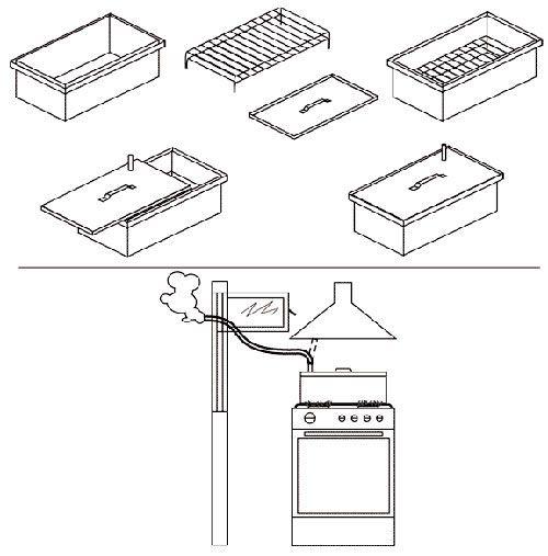 Схема двухъярусной коптильни