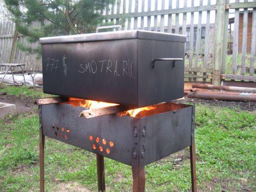 Коптильня из стальных листов