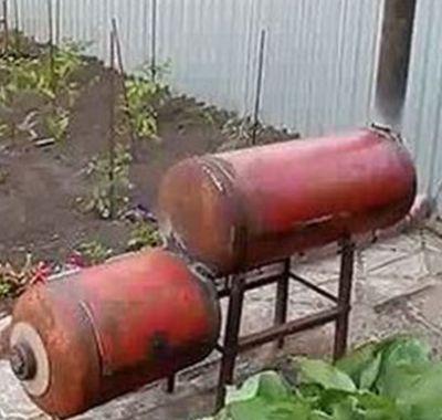 Мангал-барбекю из газовых баллонов