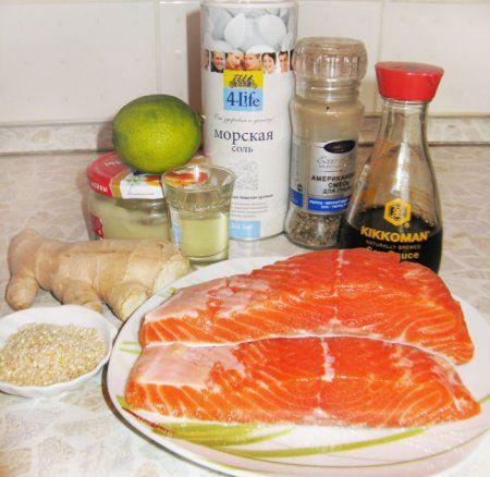 Ингредиенты для маринада для красной рыбы