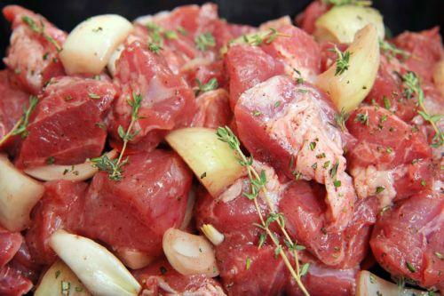 Мясо с луком для шашлыка