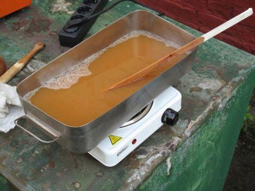 Нанесение покрытия на мангал