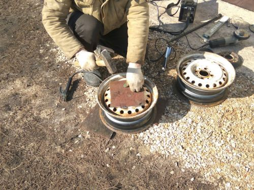 Изготовление печки из дисков