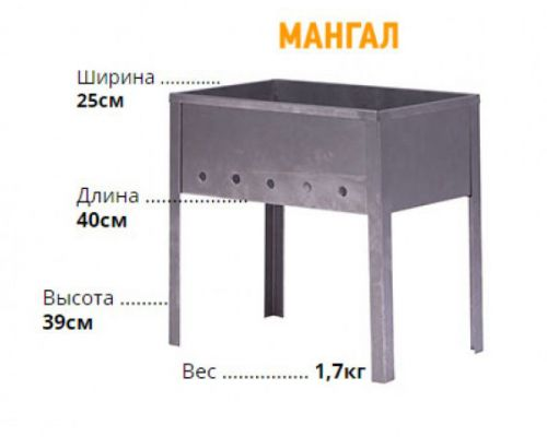 Размеры мангалы