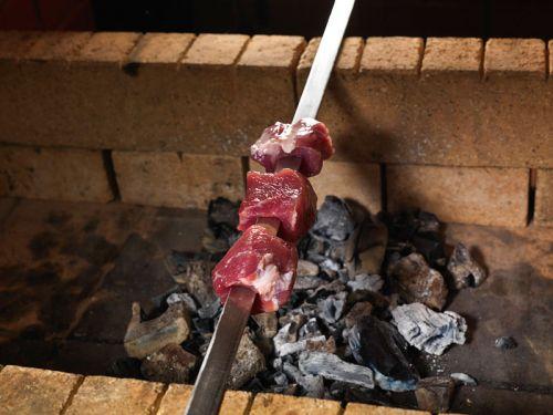 Жарка кусков мяса