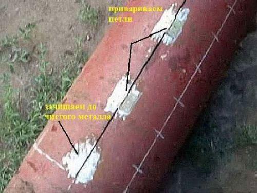 Приваривание петель к мангалу