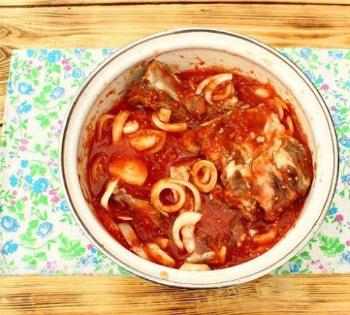 Маринад для мяса с помидорами