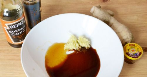 Маринад с имбирем и соевым соусом