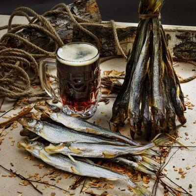 Вяленая корюшка к пиву