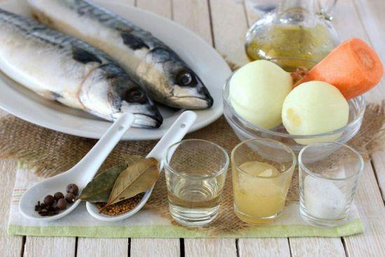 Ингредиенты для маринада для скумбрии