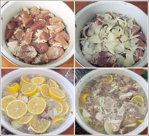 Маринад для шашлыка с лимоном