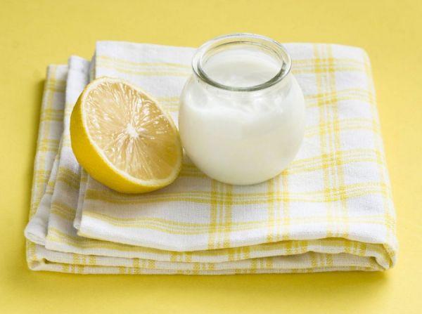 Лимон и кефир
