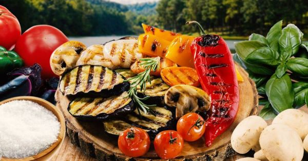 Овощи-гриль на решетке