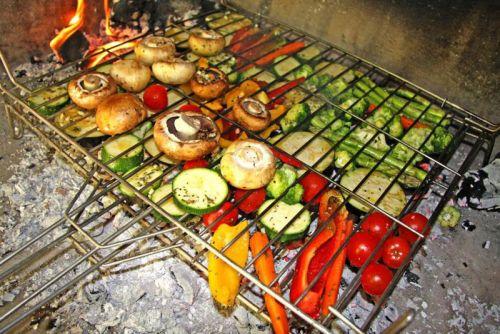 Приготовление овощей на решетке