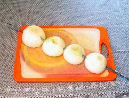 Луковицы на мангале