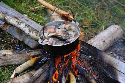 Уха рыбацкая на костре