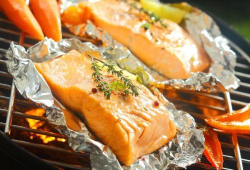 Рыба с овощами на фольге