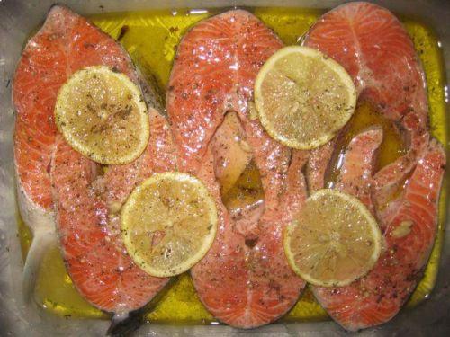 Лимонный маринад для семги