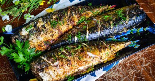 Рыба в фольге с зеленью