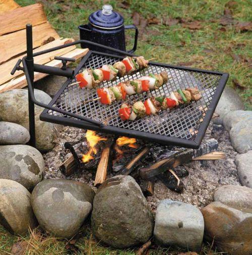 Жарка продуктов на открытом огне