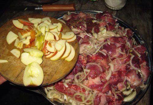 Яблочный маринад для шашлыка