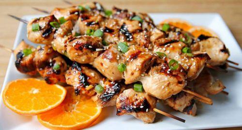 Шашлык из курицы в соевом маринаде