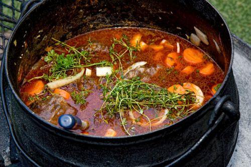 Суп на костре с бараниной