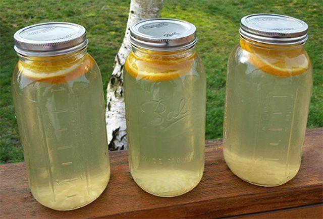 Березовый сок с апельсиновыми дольками