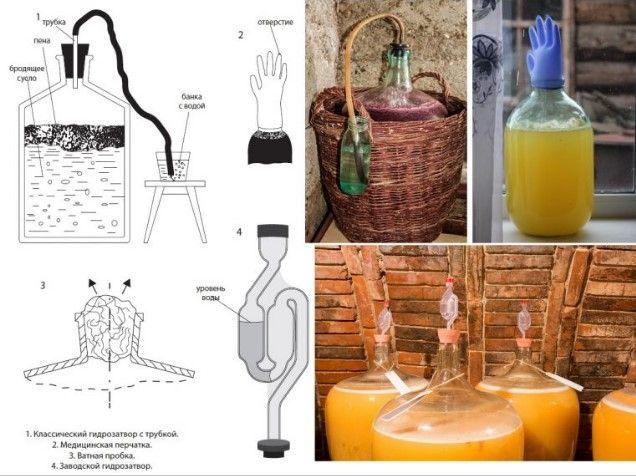 Этапы приготовления березового шампанского:
