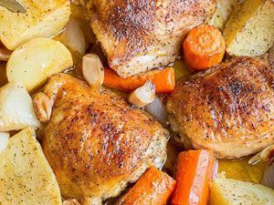 Курица с картошкой и морковью