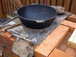 Печь под казан из кирпича