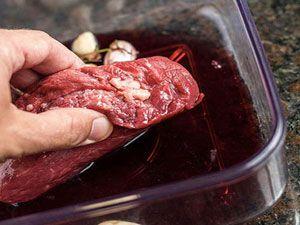 Мясо в крсном вине