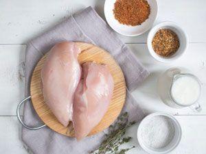 Курица и ингредиенты для маринада