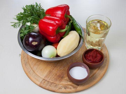Овощи для аджапсандала