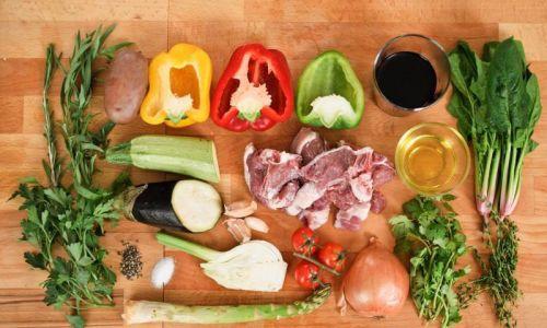 Продукты для приготовления баранины в казане