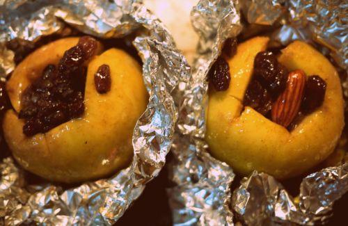 Печеные груши и яблоки