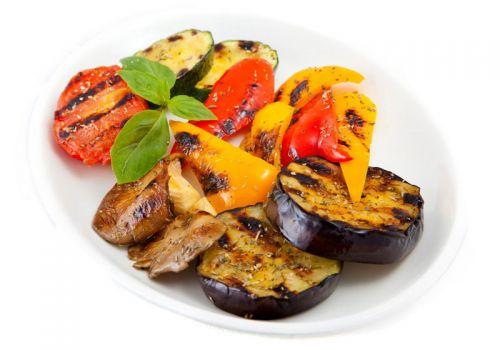 Барбекю из овощей с грибами