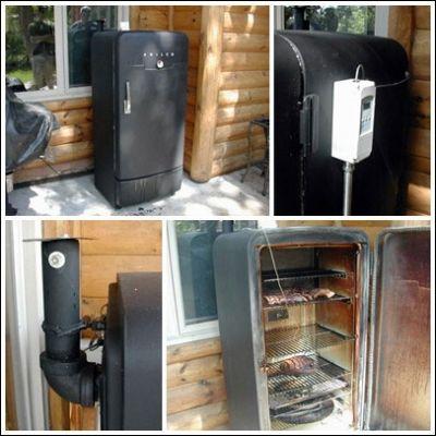 Готовая коптильня из холодильника