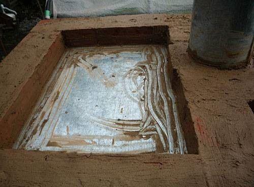 Крыша коптильни из кирпича