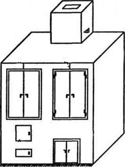 Двухкамерная коптильня из кирпича