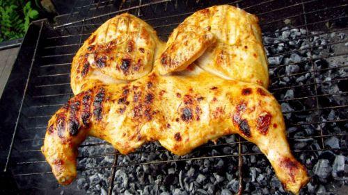 Курица на углях