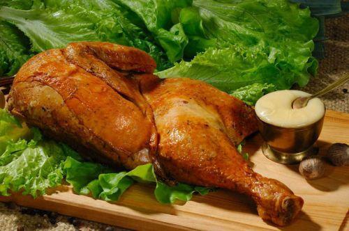 Копченая курица с румяной корочкой